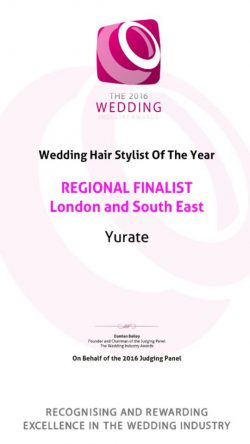 Wedding Hair Stylist of the year Jurate Tiskaite